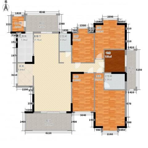 山水世家5室1厅2卫1厨177.34㎡户型图