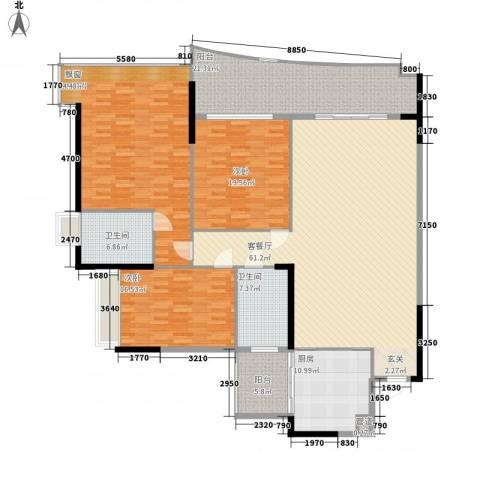 美图别苑3室1厅2卫1厨248.00㎡户型图