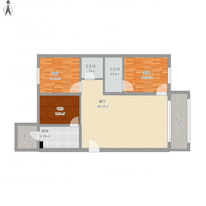 三室一厅A13-3-201