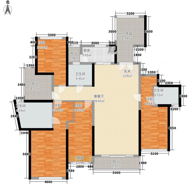 合富花园15.10㎡7#标准层A户平面图户型4室2厅3卫1厨