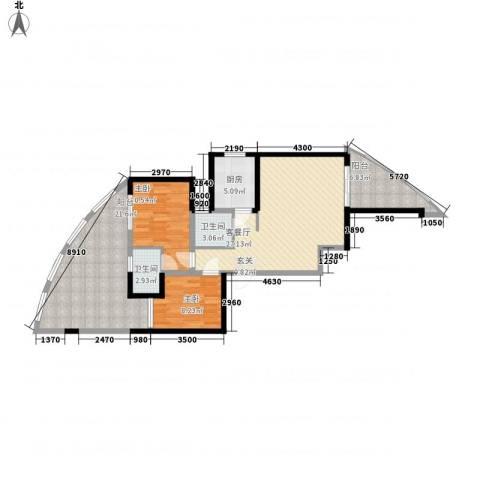 湖畔新城2室1厅2卫1厨728.00㎡户型图