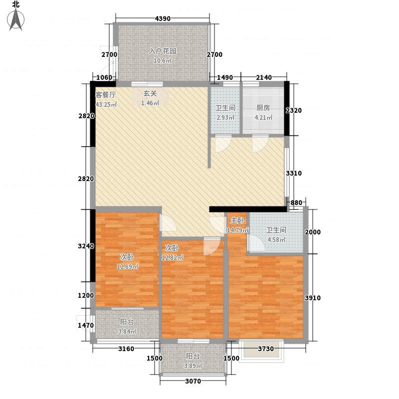 和盛花园148.00㎡灵动户型3室2厅2卫1厨