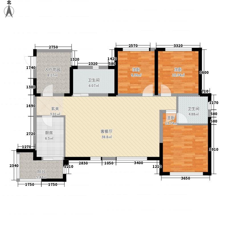 领地凯旋公馆B413970-3-2-2户型
