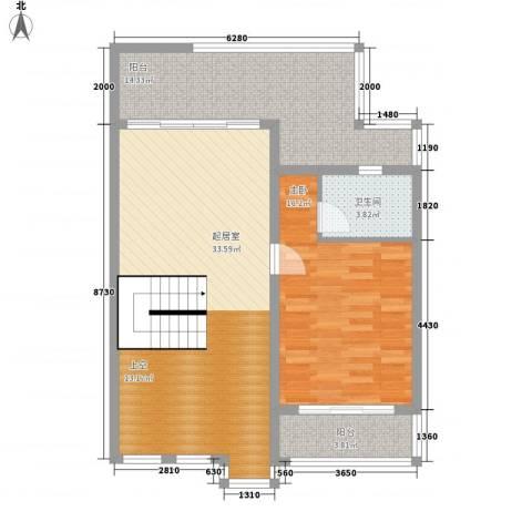 红谷春天1室0厅1卫0厨125.00㎡户型图