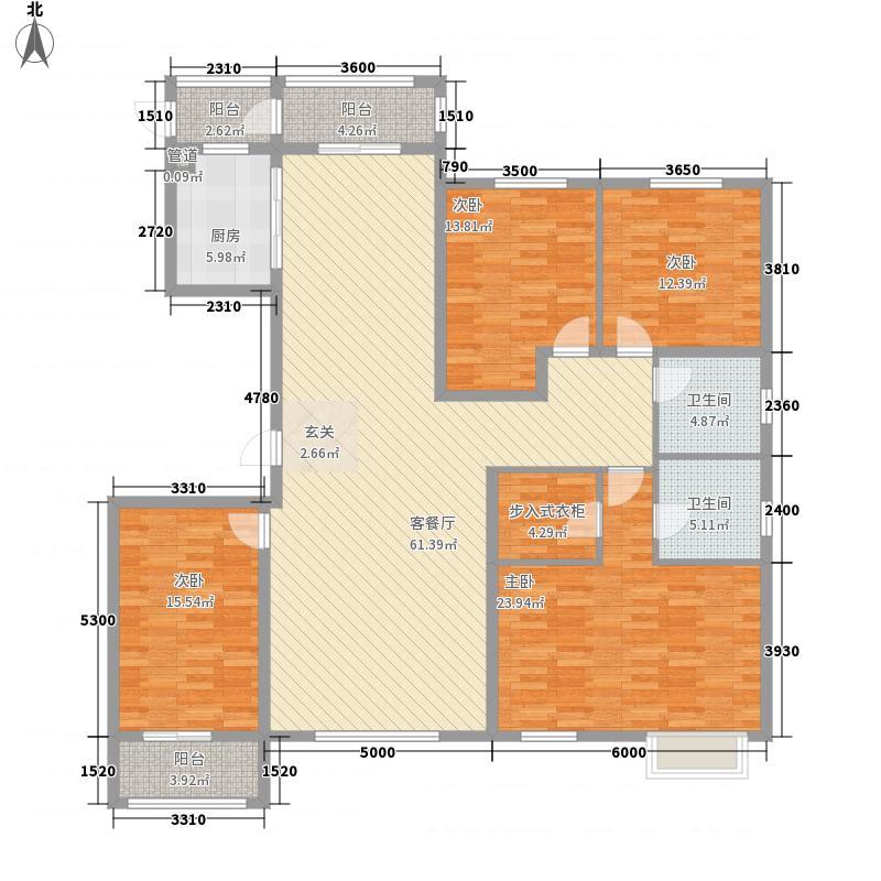 天成・明月洲215.00㎡O户型4室2厅2卫