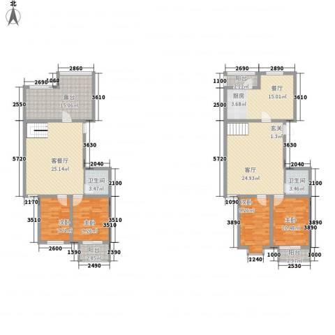 天娇园4室3厅2卫0厨158.00㎡户型图