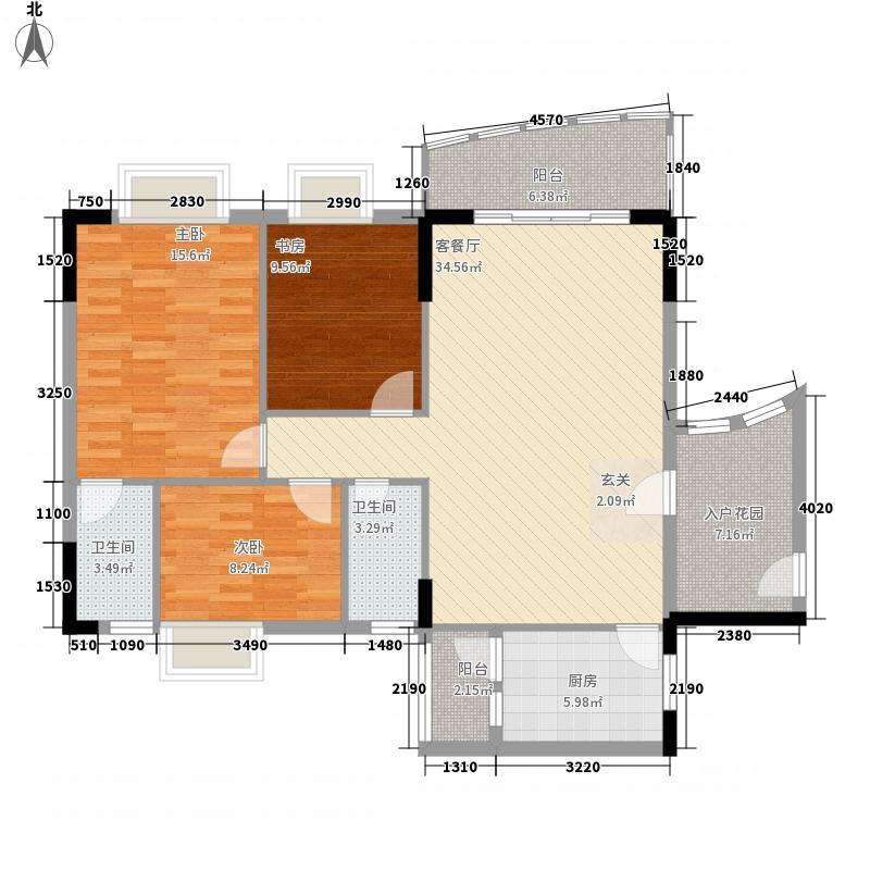 碧琴湾112.50㎡01单位2户型3室2厅2卫1厨