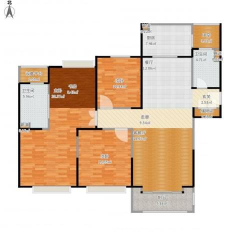 合生财富海景公馆3室1厅2卫1厨175.00㎡户型图