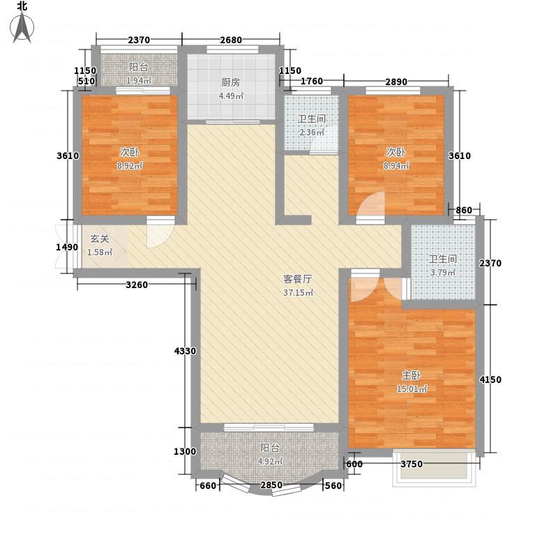 卡梅尔小镇132127.34㎡C户型3室2厅2卫1厨