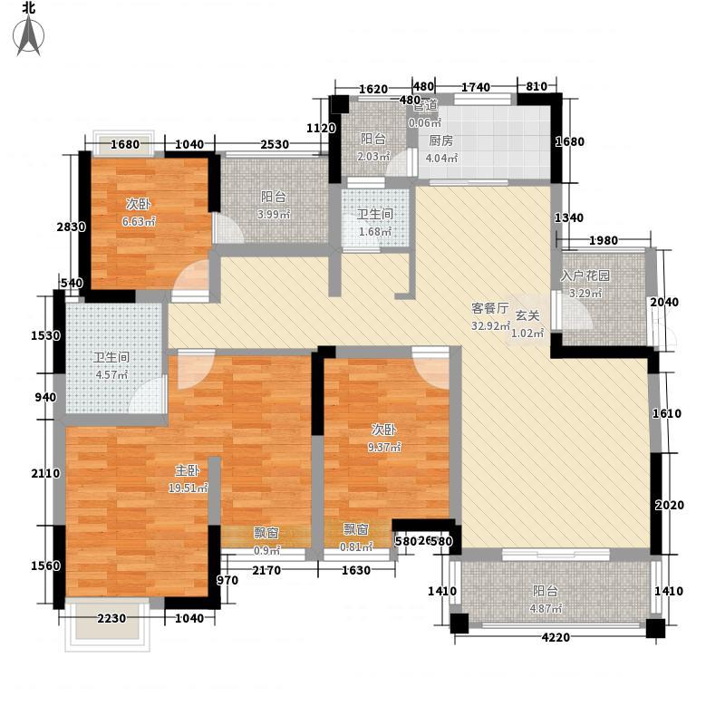 兴发龙溪谷135.00㎡15栋D1-2户型3室2厅2卫1厨