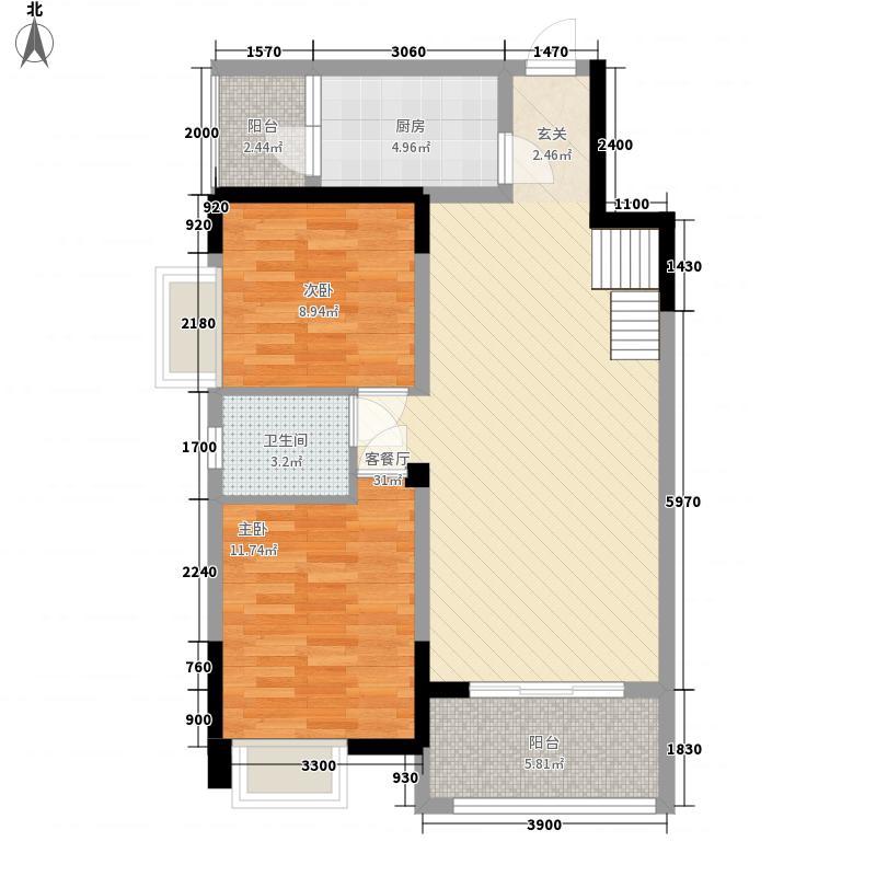 弘乐府.公园1�弘乐府公园K4跃层1层户型4室2厅2卫1厨