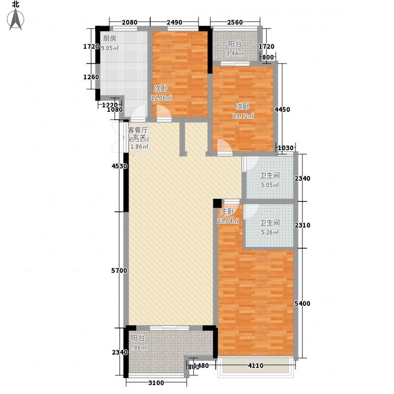 界首大唐凤凰城121.75㎡B3户型3室2厅2卫