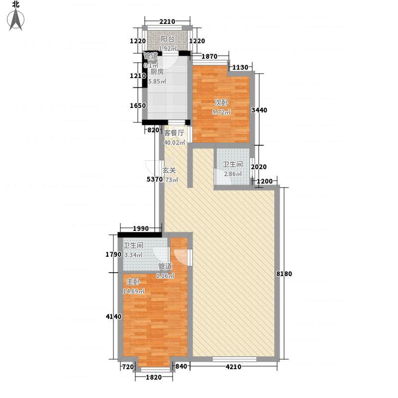 漫城114.70㎡户型2室