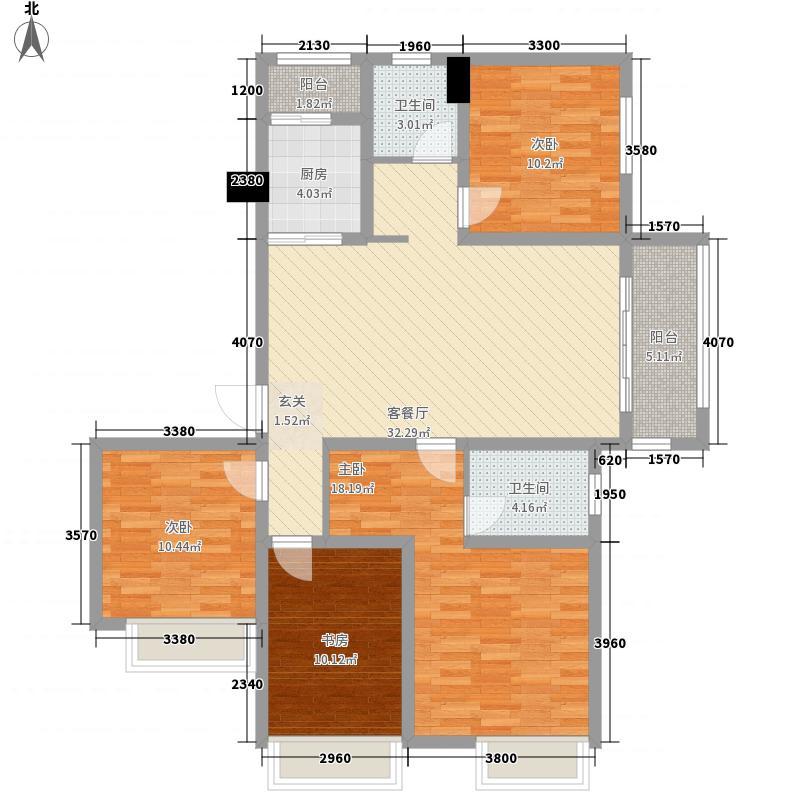 天明城143.10㎡D2户型4室2厅2卫1厨