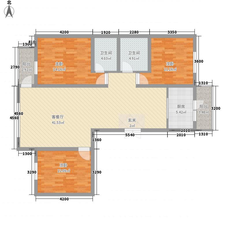 金科托斯卡纳户型3室2厅2卫1厨