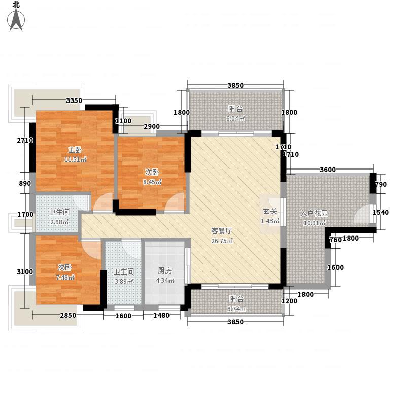 立元・世纪年华14.34㎡B户型3室2厅2卫