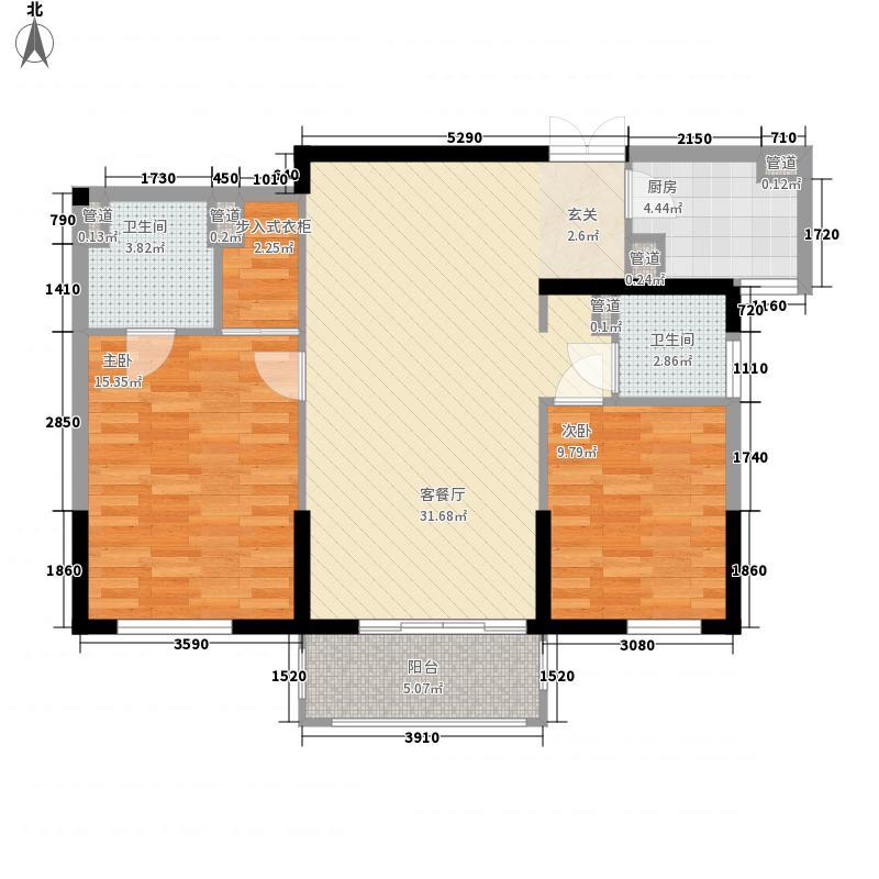 凤凰77.00㎡小区户型2室
