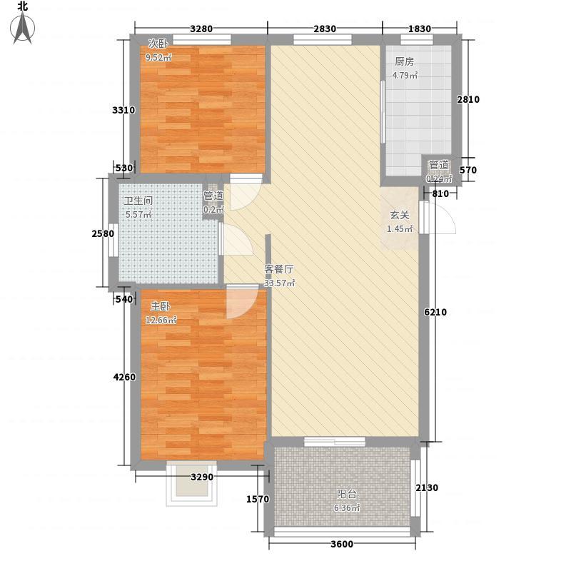 金都小区户型2室2厅