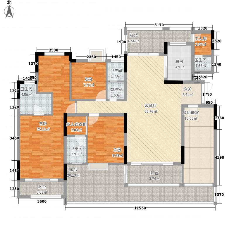 发能凤凰城215.20㎡1-7户型5室2厅4卫1厨