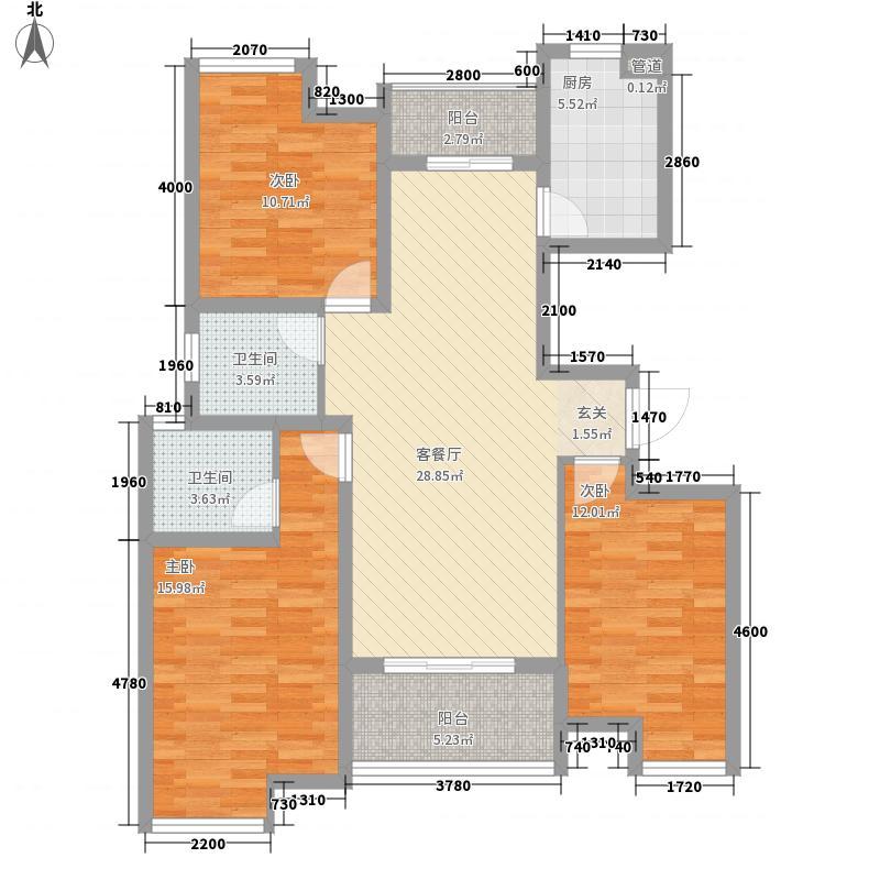 新城尚东区花园127.00㎡10号楼0户型3室2厅2卫1厨