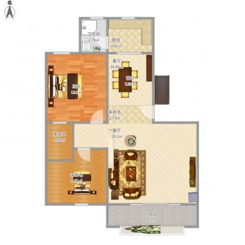 金湖雅苑1室1厅1卫1厨103.00㎡户型图