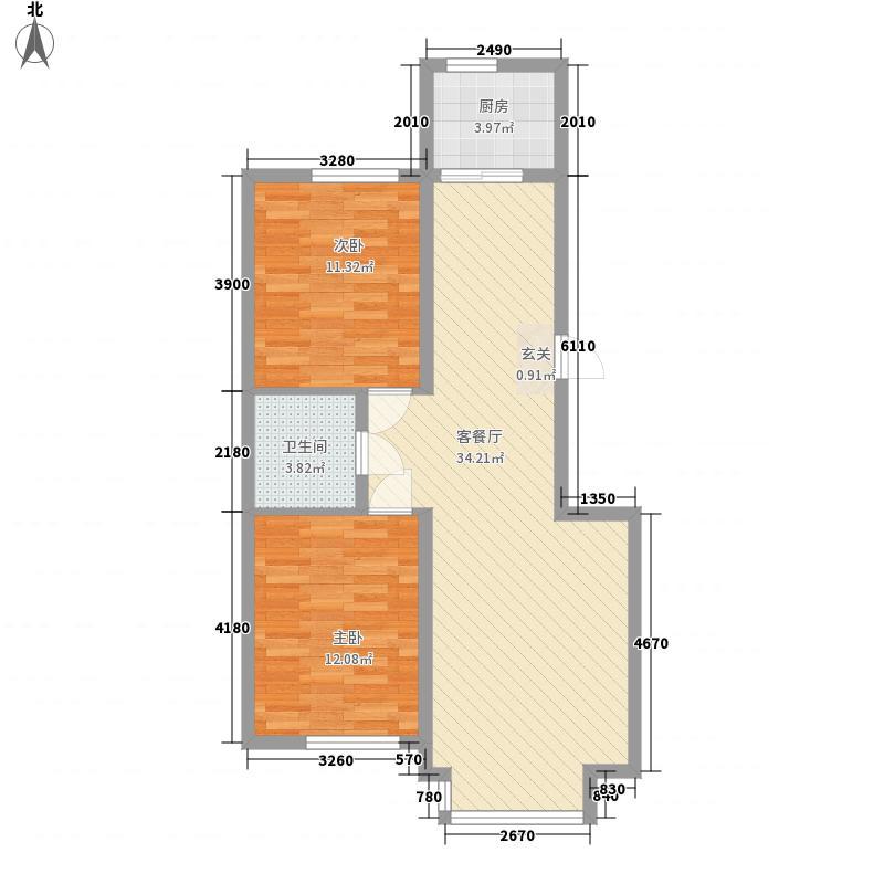 中大・海韵郦城82.00㎡B4、B5、B9-b合户型2室2厅1卫