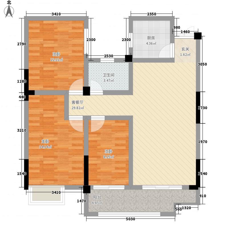界首大唐凤凰城114.56㎡D3户型3室2厅1卫