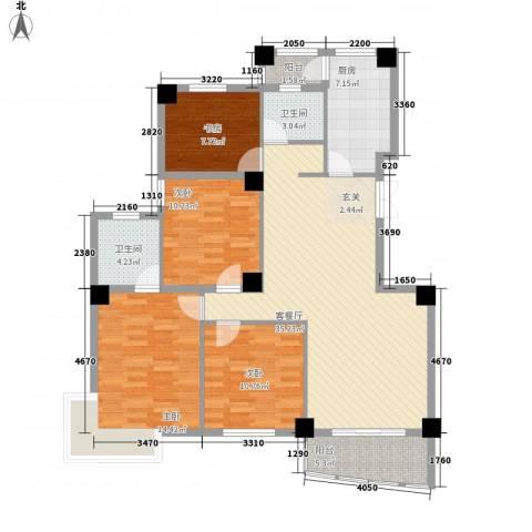 国际风情4室1厅2卫1厨142.00㎡户型图