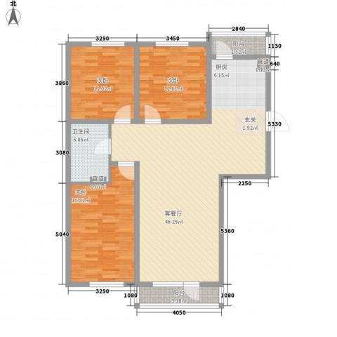 辰威金域尚景3室1厅1卫0厨136.00㎡户型图