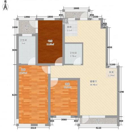 辰威金域尚景3室1厅2卫0厨135.00㎡户型图