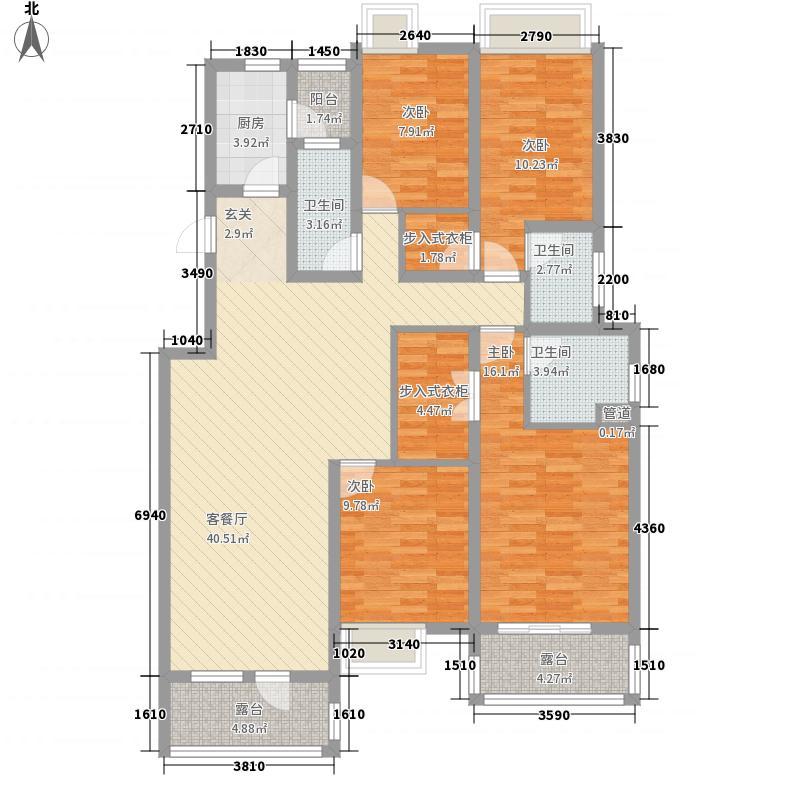 �泉湾171.74㎡E1-2户型4室2厅3卫1厨