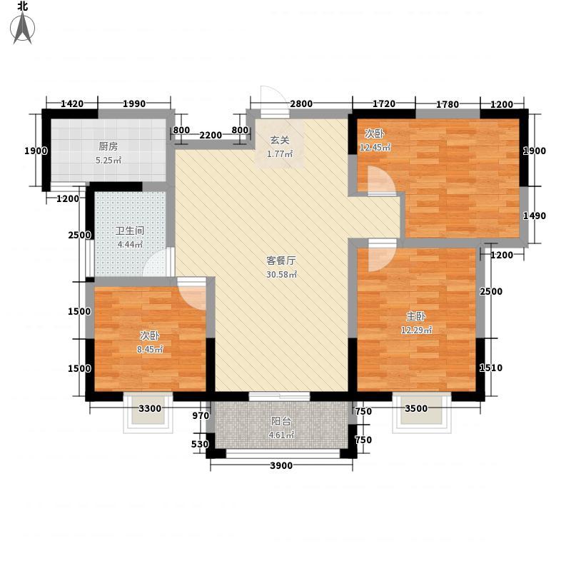 天英宝鼎花苑G户型3室2厅1卫1厨
