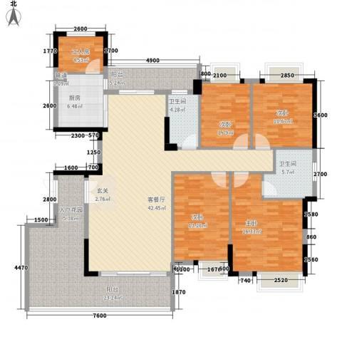 时代花园4室1厅2卫1厨141.10㎡户型图
