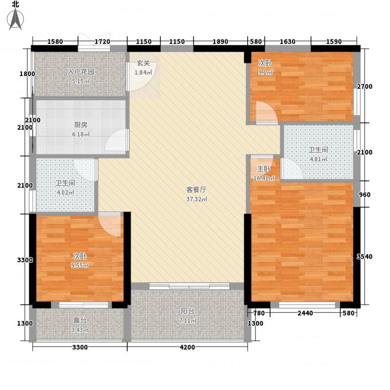滨海御庭135.00㎡户型3室