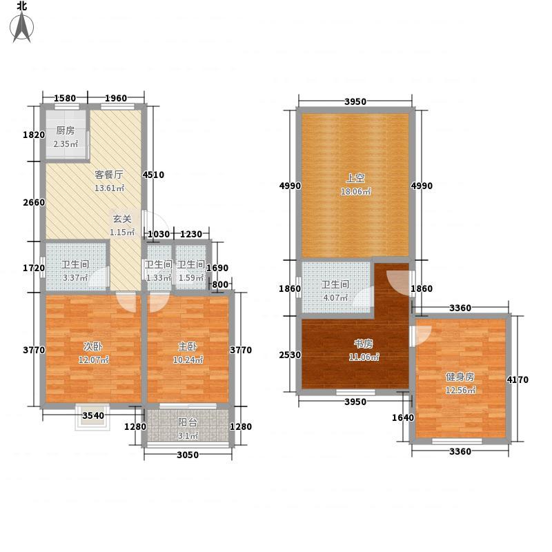 北都花园143.00㎡北都花园4室户型4室