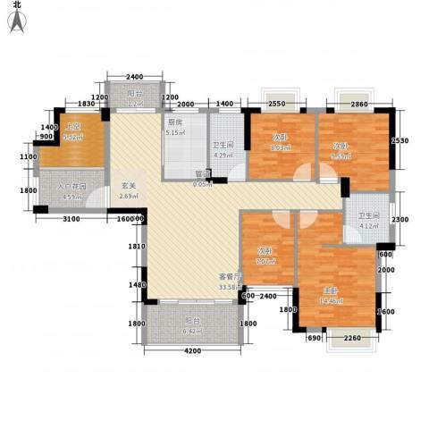 时代花园4室1厅2卫1厨119.39㎡户型图