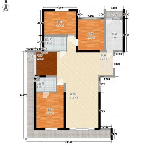 领先国际3室1厅2卫1厨173.00㎡户型图