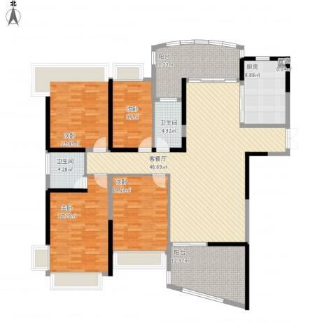 凯茵新城4室1厅3卫1厨201.00㎡户型图