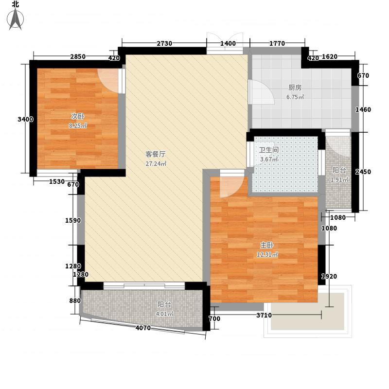 桃园仙居2.24㎡6户型2室2厅1卫1厨
