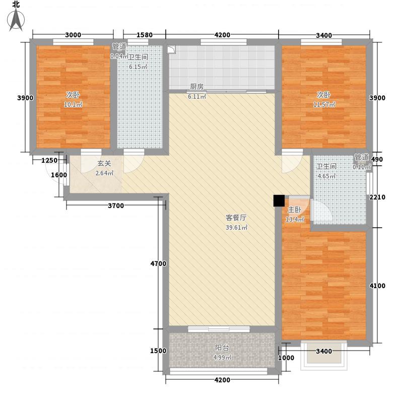 印象青城13.50㎡b5户型3室2厅2卫