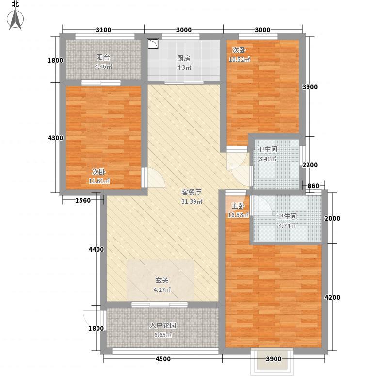龙胤财富广场113113.84㎡10-13#楼A5户型3室2厅2卫1厨