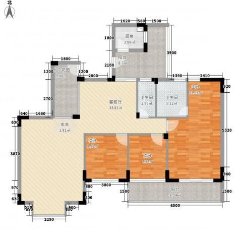易筑3室1厅2卫1厨116.02㎡户型图