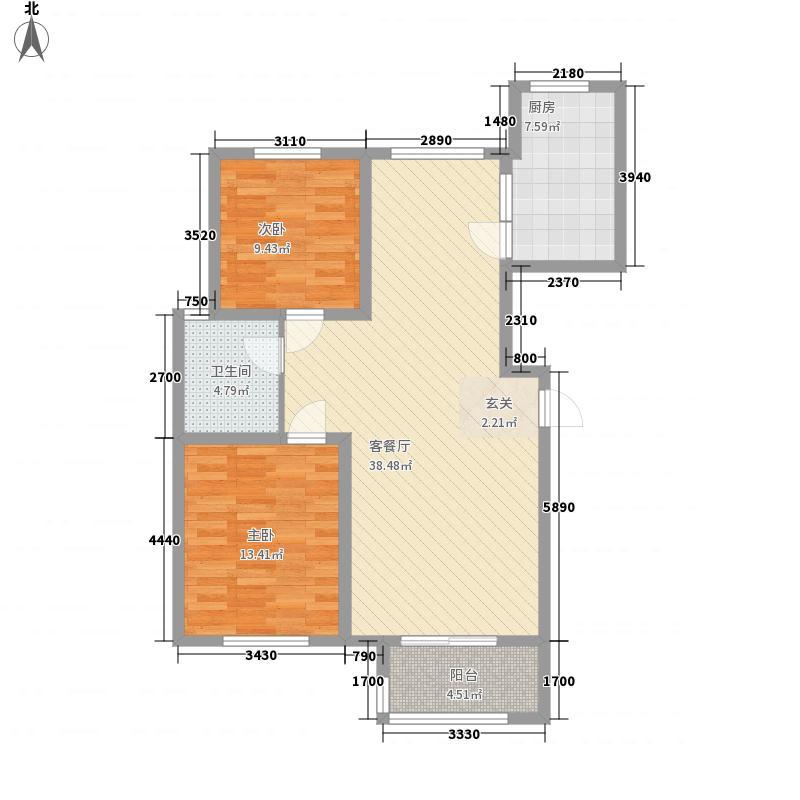 兴业・大连花园111.00㎡G1户型2室2厅
