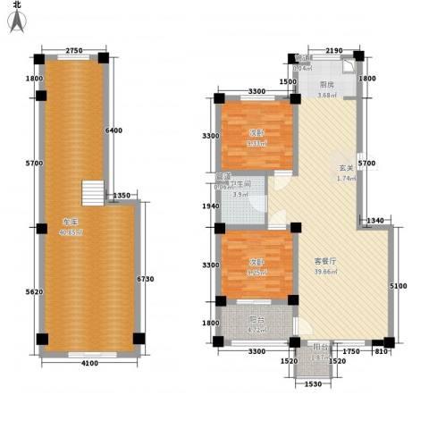 城南公馆2室1厅1卫0厨156.00㎡户型图