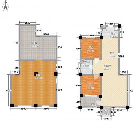 城南公馆2室1厅1卫0厨192.00㎡户型图