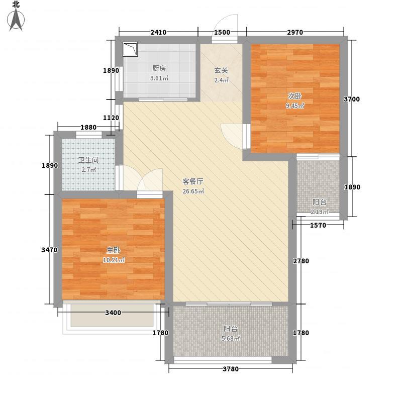 怡和・北湖湾87.00㎡北湖湾户型2室2厅1卫1厨