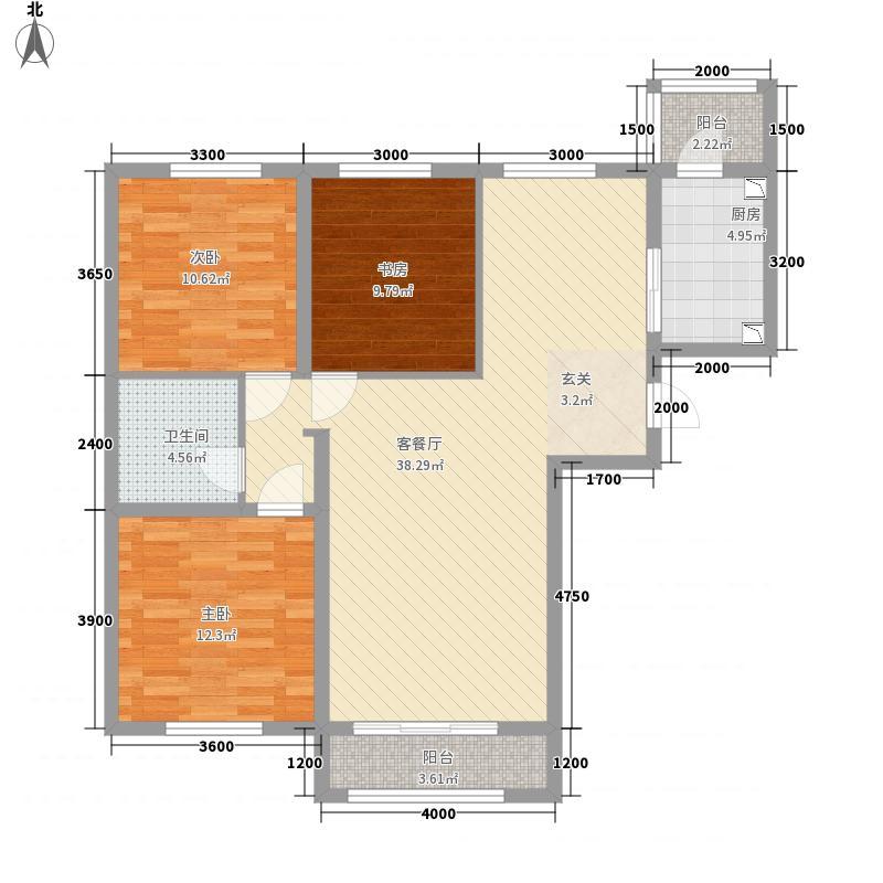 德润・峰汇c2户型3室2厅1卫
