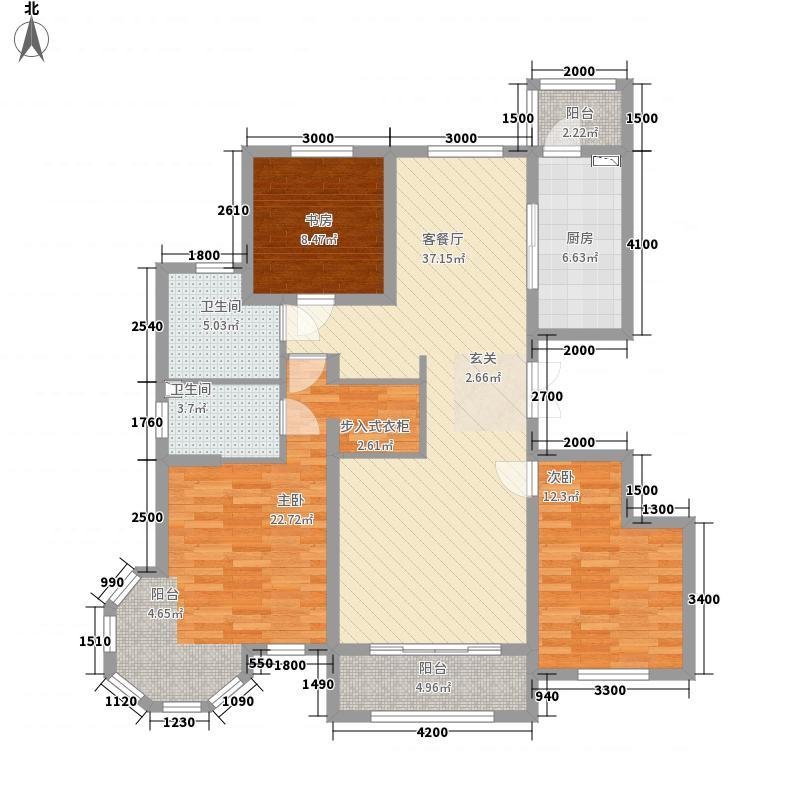 德润・峰汇c6户型3室2厅2卫