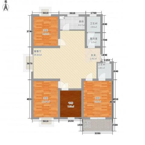 旺旺家缘4室2厅2卫1厨135.00㎡户型图