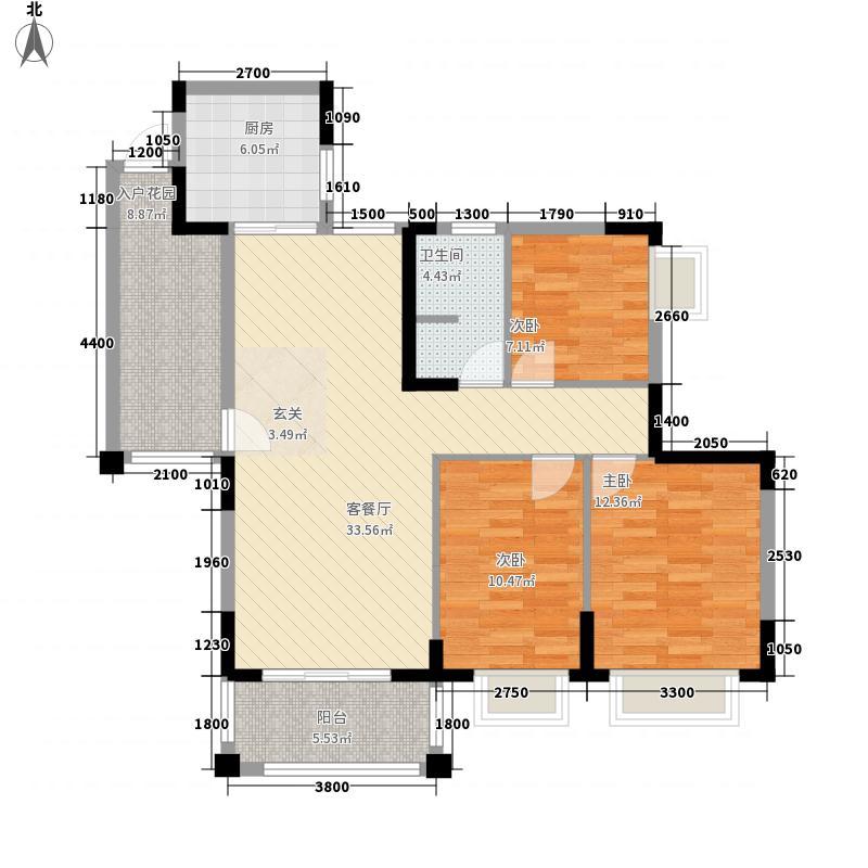 博达新桂城11.26㎡A110户型3室2厅1卫1厨
